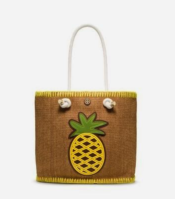Craving this Tory Burch pineapple beach bag for the Summer ...