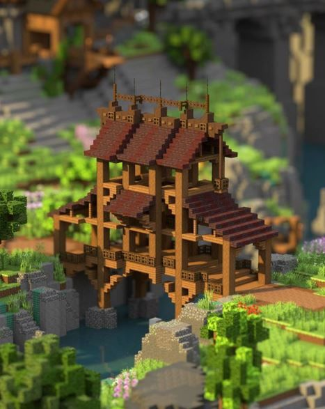 Minecraft bridge by Pixelbiester