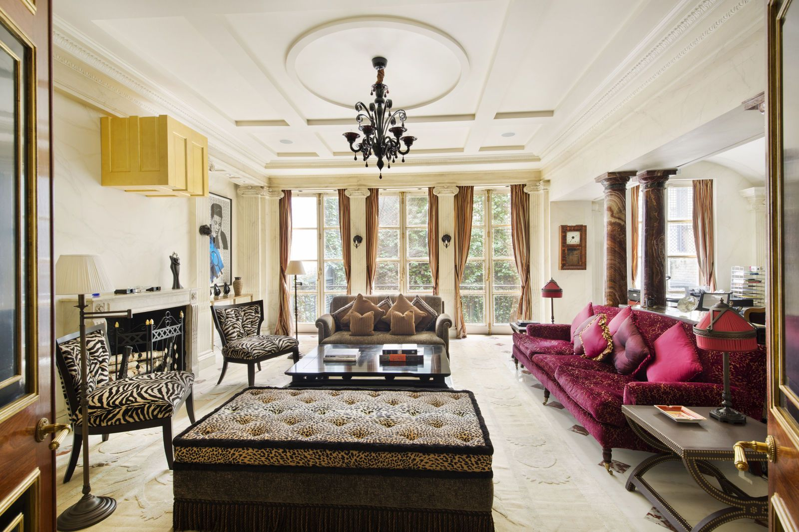 90s Miami Meets Renaissance Italy Inside Gianni Versaces Former New York Townhouse Living Room