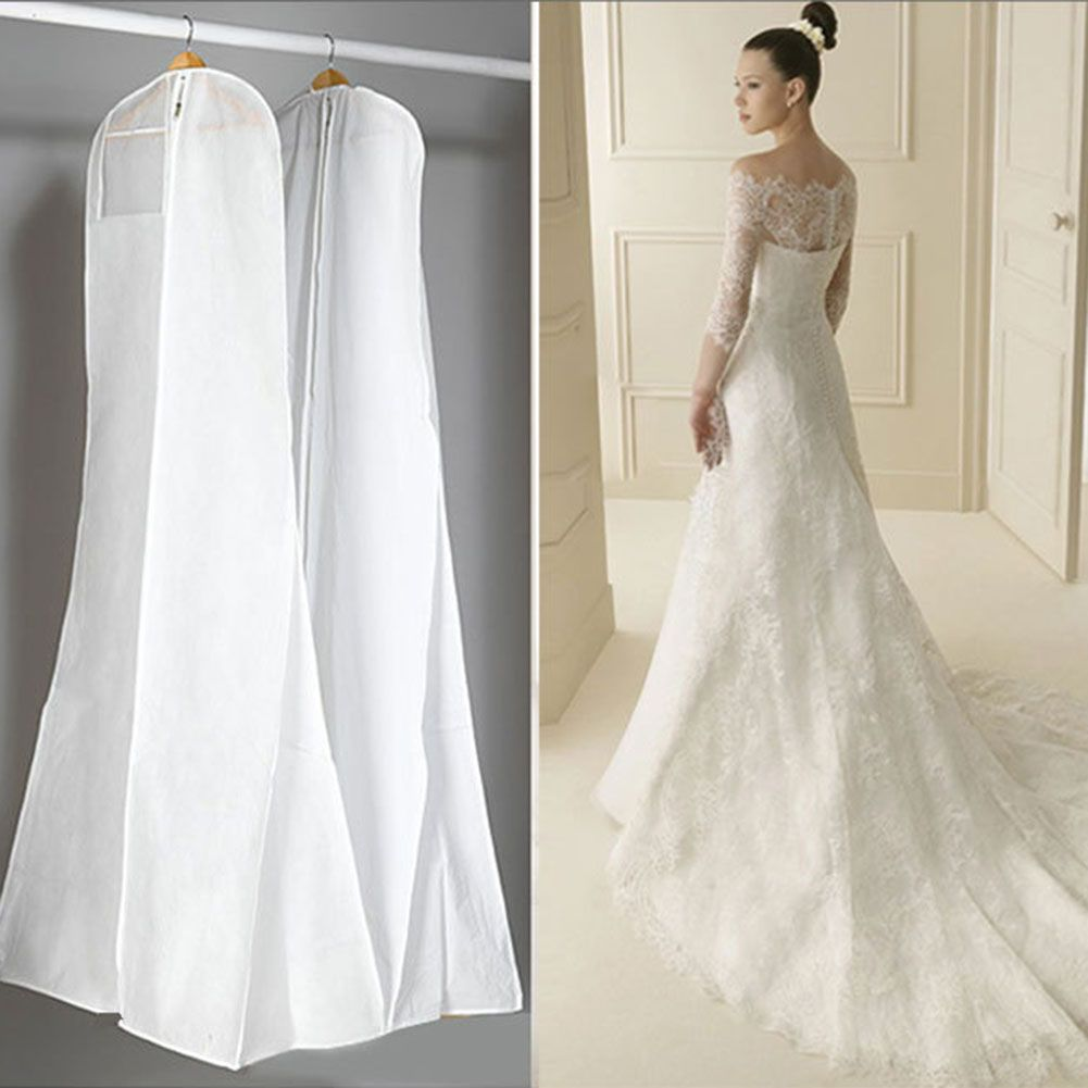 1pc Non Woven Fabric Plastic Wedding Dresses Garment Dust Proof Cover Bags Storage Bags For Cloth Wedding Dress Bags Buy Wedding Dress Bridal Wedding Dresses