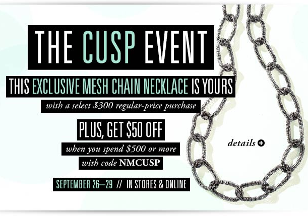 Get Free Mesh Chain Necklace plus Extra $50 off Your Purchase w/ Code. on DealsAlbum.com
