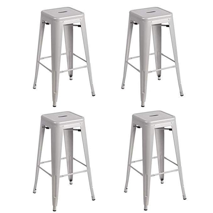 Amazing Metal Stools Bar Stools 30 Inch Height Stackable Barstools Inzonedesignstudio Interior Chair Design Inzonedesignstudiocom