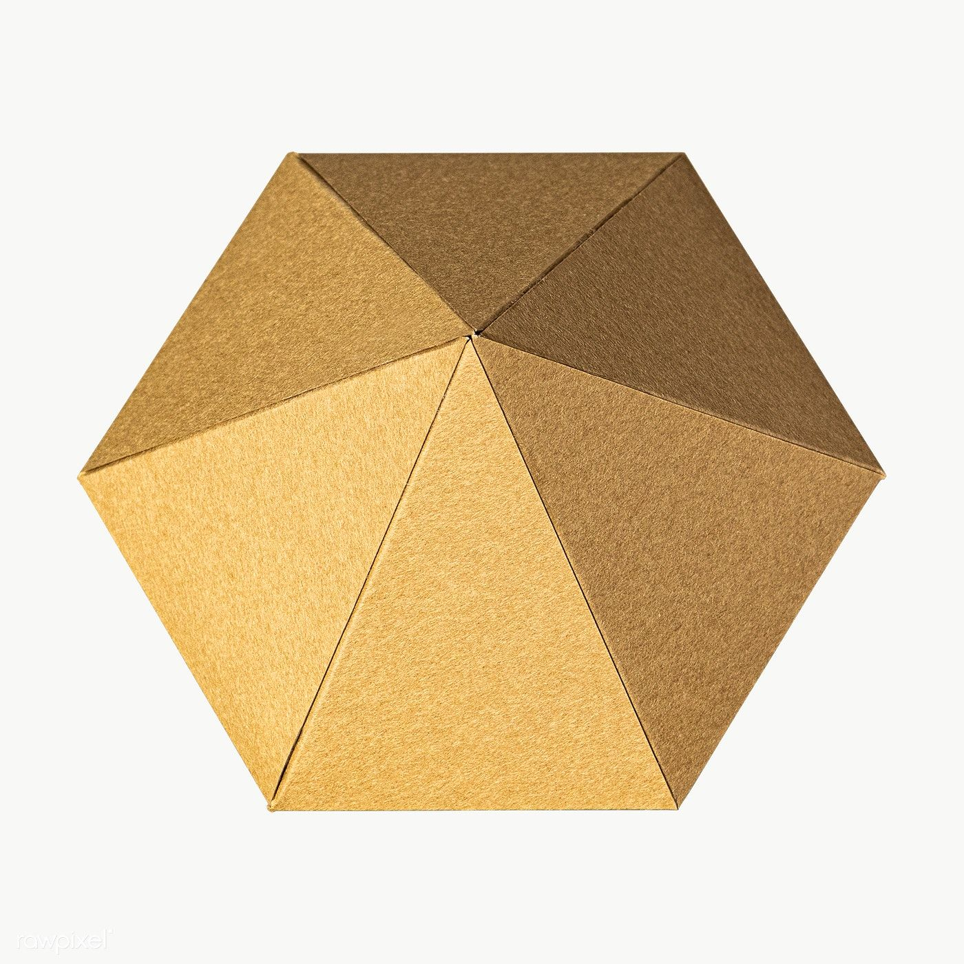 3d Golden Diamond Shaped Paper Craft On Design Element Free Image By Rawpixel Com Jira Paper Crafts Diamond Shapes Golden Diamonds