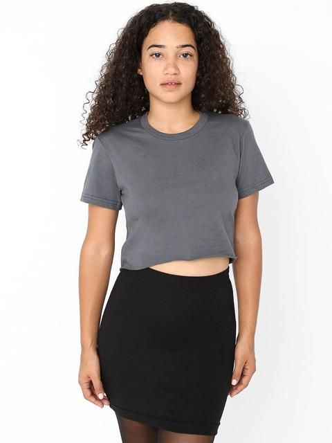 56abfb25119 AMERICAN APPAREL: 2380 - Fine Jersey Short Sleeve Cropped T-Shirt Buy Now  $22.0 Find at Faearch