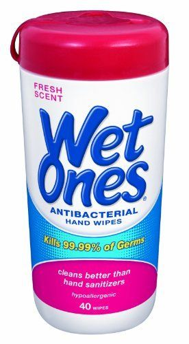 Wet Ones Antibacterial Hand Wipes Singles 24 Count Pack Of 5