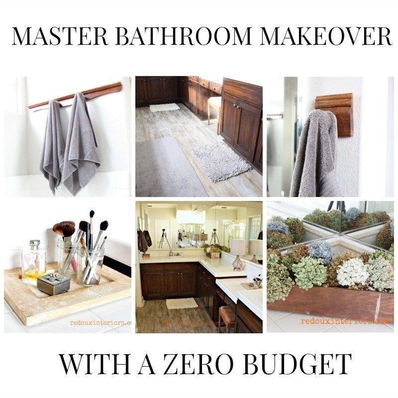 Bathroom Makeover Low Budget master bathroom makeover low budget redouxinteriors | diy home