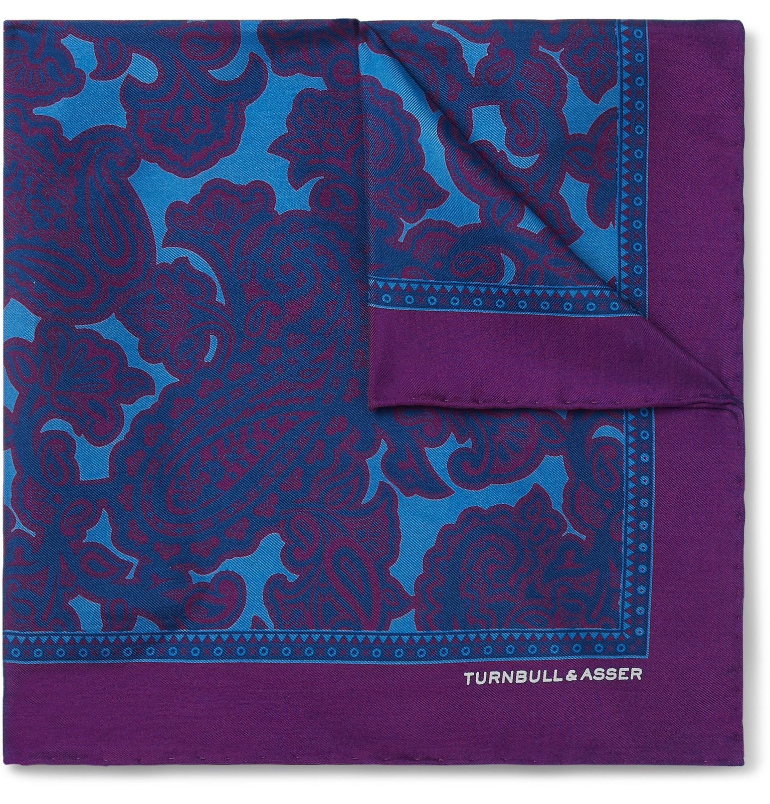 Paisley-Print Silk-Twill Pocket Square #pocketsquares