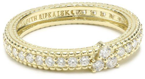 "Judith Ripka ""Romance"" Diamond Stacking Band, Size 6 