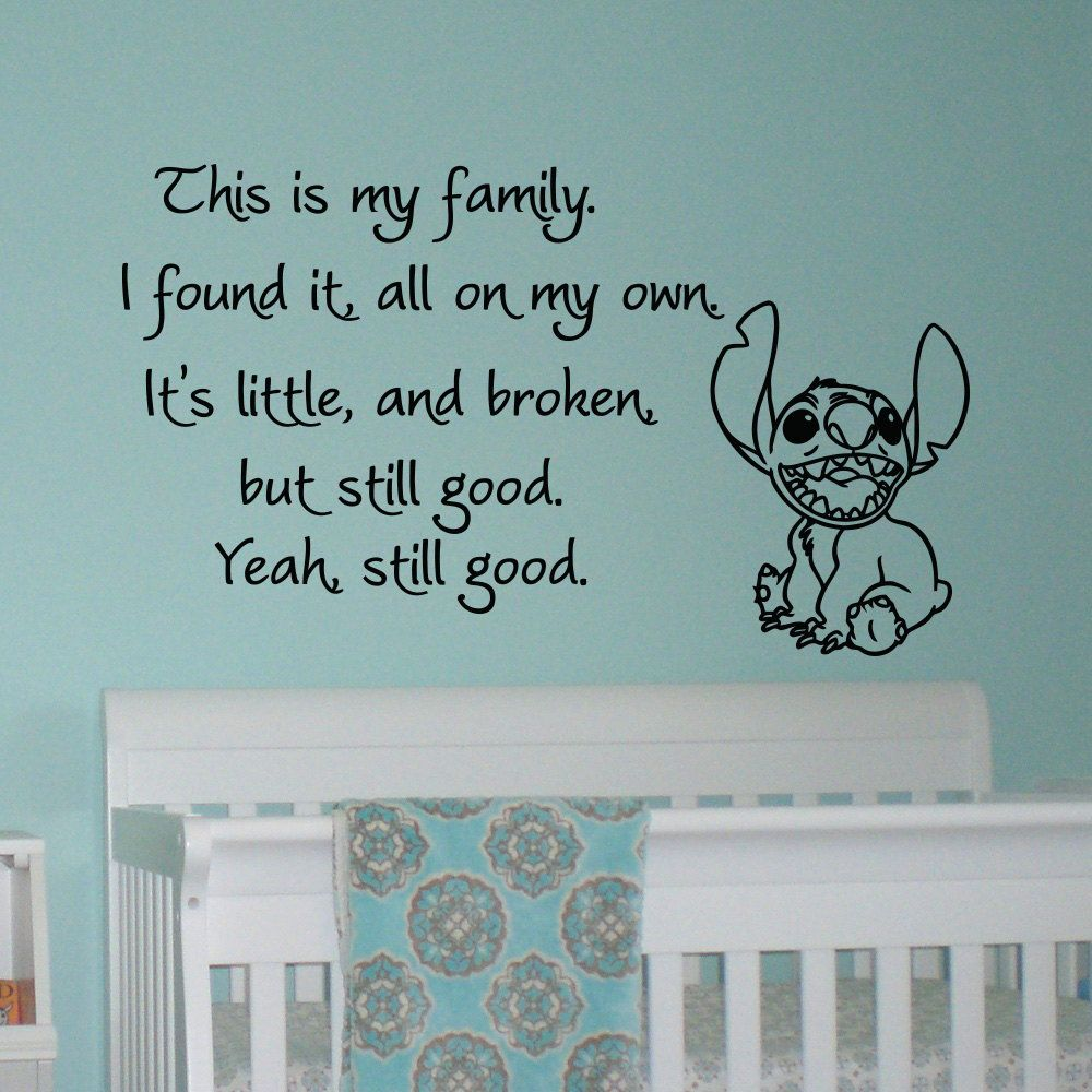 This Is My Family I Found It On My Own Lilo and by FabWallDecals. Quote Wall DecalsVinyl ... & This Is My Family I Found It On My Own Lilo and by FabWallDecals ...