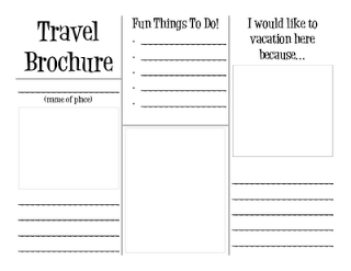 love this free printable travel brochure would be fun to use on vacations this year for the kids to make one about our vacation spots
