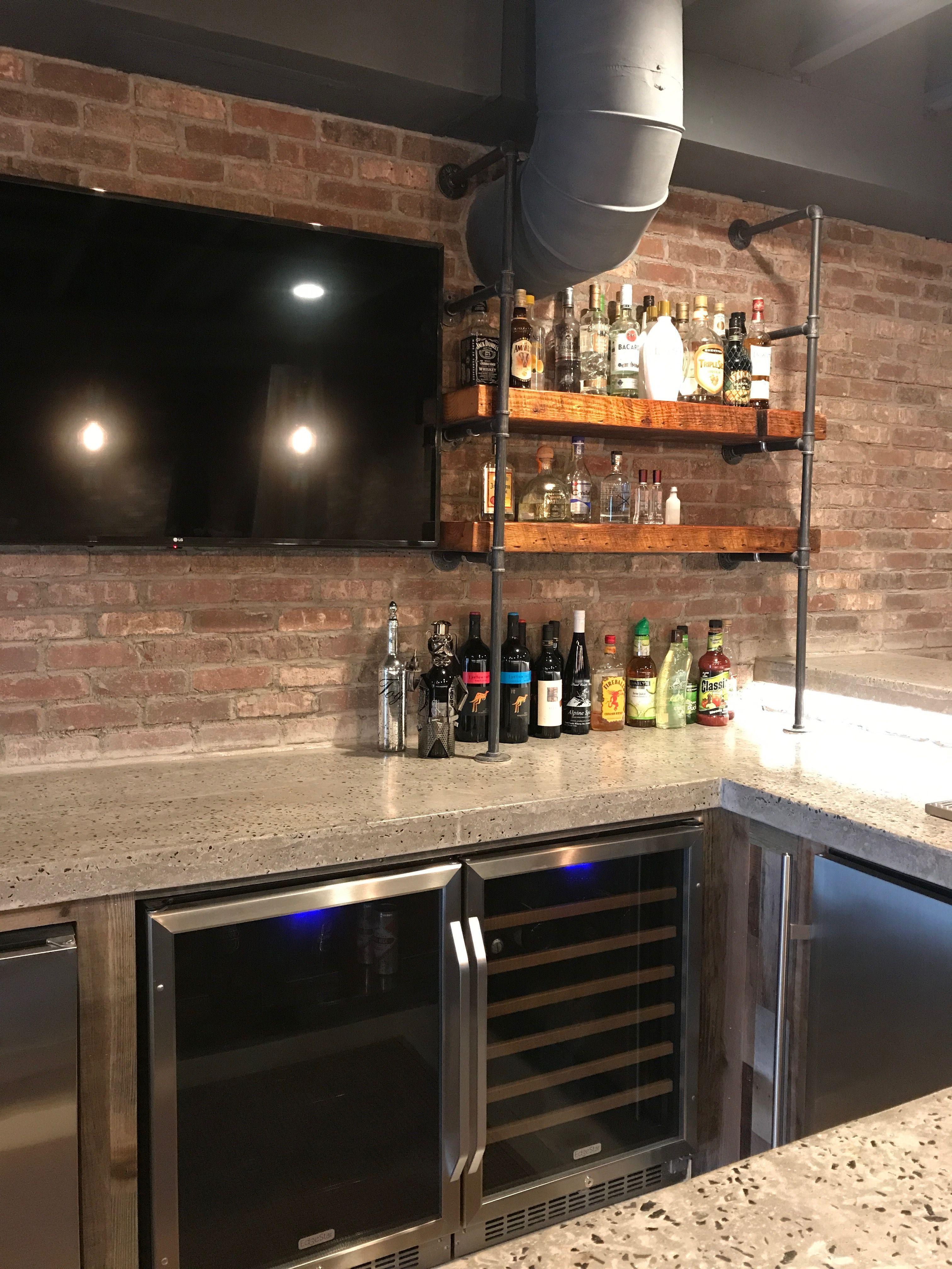 Industrial basement bar Basement bar plans, Basement