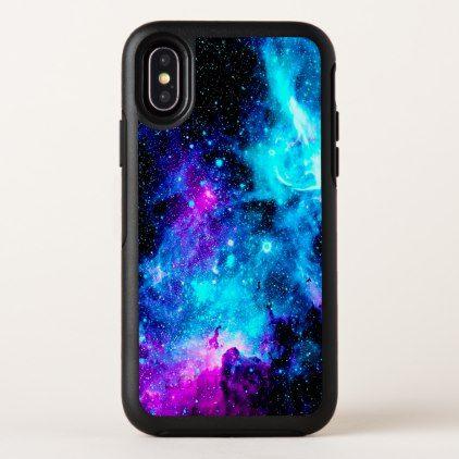 Pink Black Aqua Blue Galaxy OtterBox iPhone X Case - women woman style  stylish unique cool special cyo gift idea present 8cdddaf87a