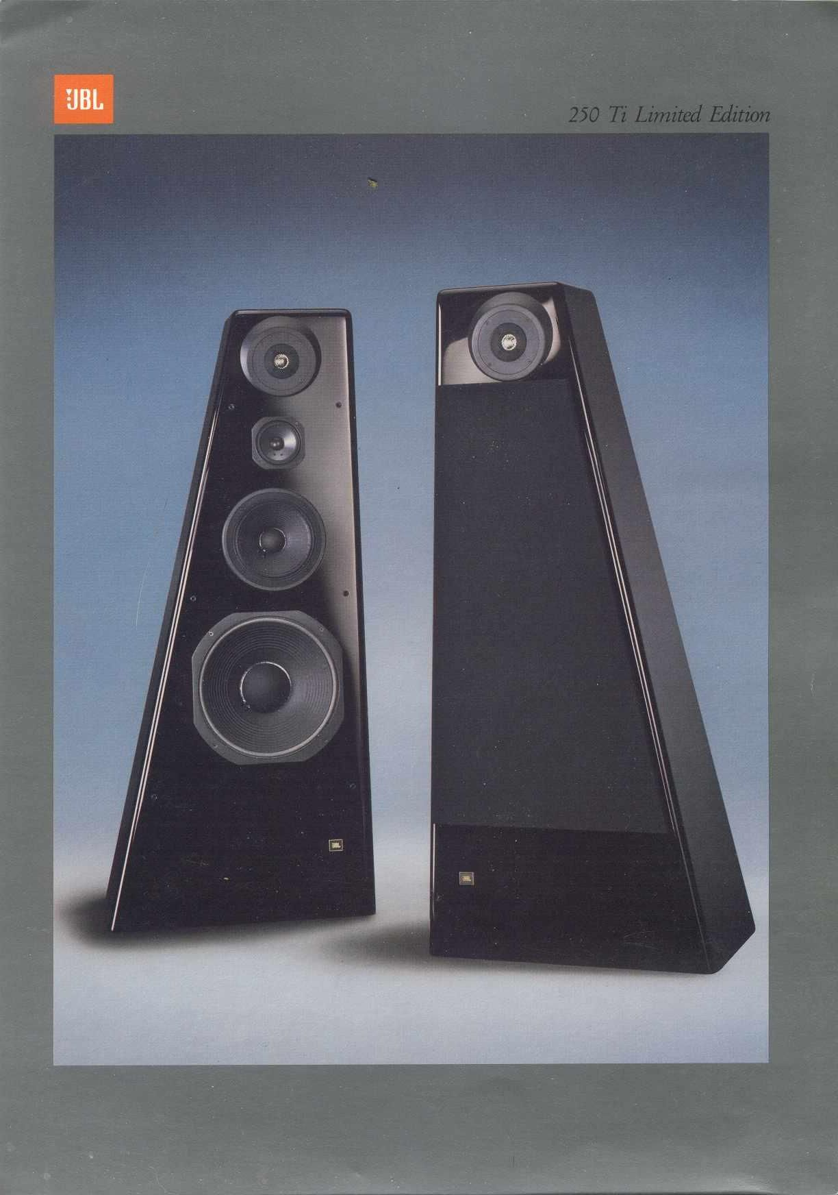 jbl 250 ti limited edition vintage hifi catalog picture. Black Bedroom Furniture Sets. Home Design Ideas