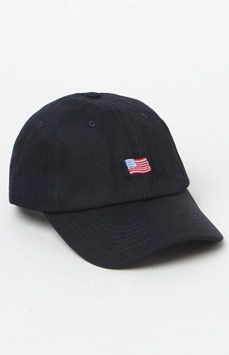 31c3ebd5a87a4 Wavy USA Flag Strapback Dad Hat