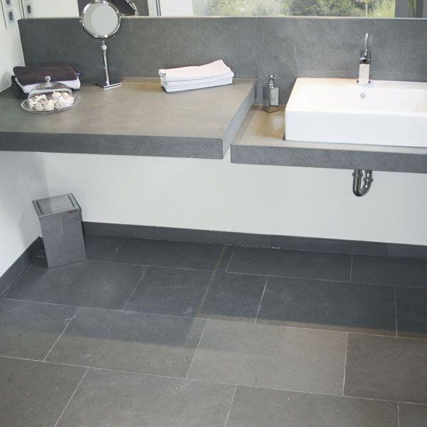 Naturstein Greyhound Grey spaltrau - Badezimmer Bodenplatten 60 x - böden für badezimmer