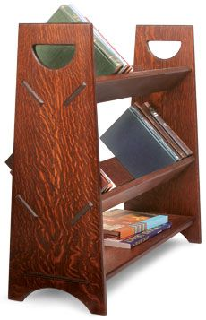 Preview A Portable Book Rack Fine Woodworking Article Arts And Crafts Furniture Bookcase Plans Woodworking Plans Free