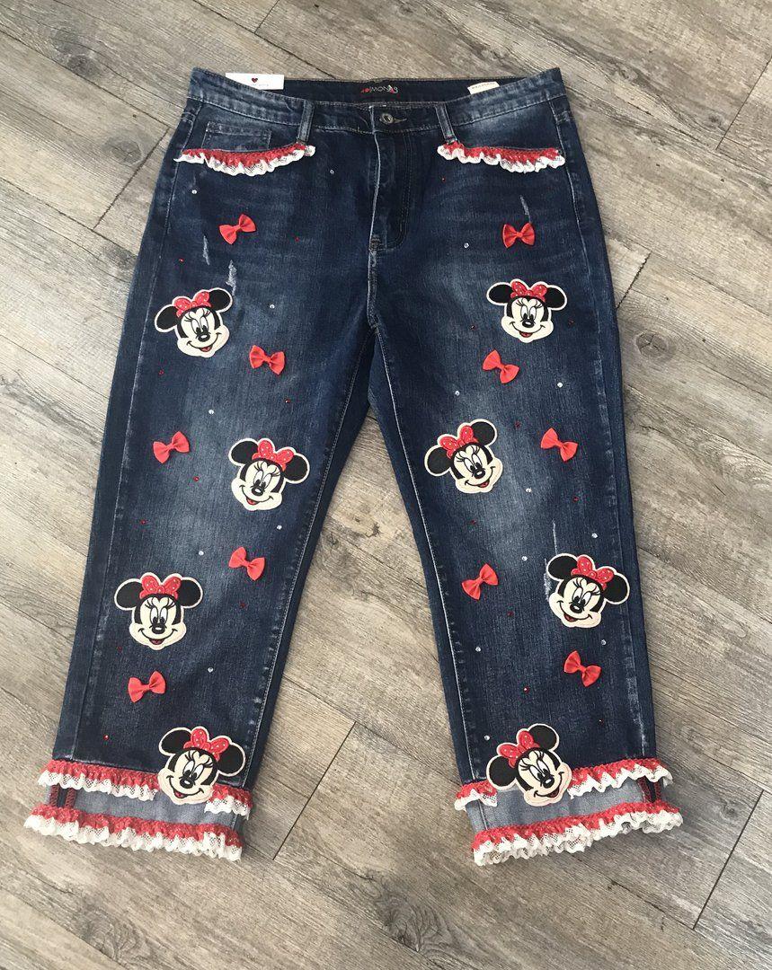 Divertidos Pantalones Customizados Con Minnie Lacitos Y Puntillas Volvamos A Ser Ninas Pantalones Ropa Para Ninas Leggins Nina