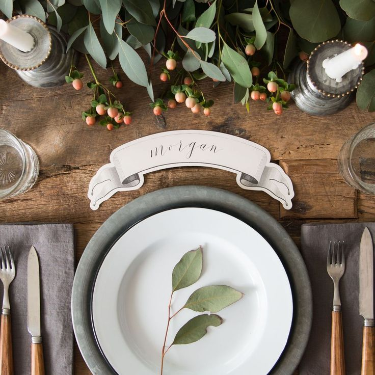 lovely table seating - pretty place card | Rustic | Design ...