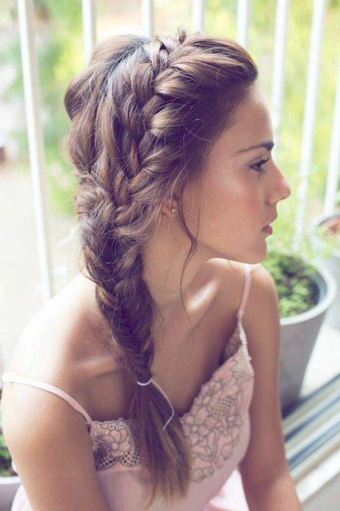 Coiffure facile cheveux long pour soiree