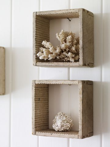 antique box shelves - instant shelving with character