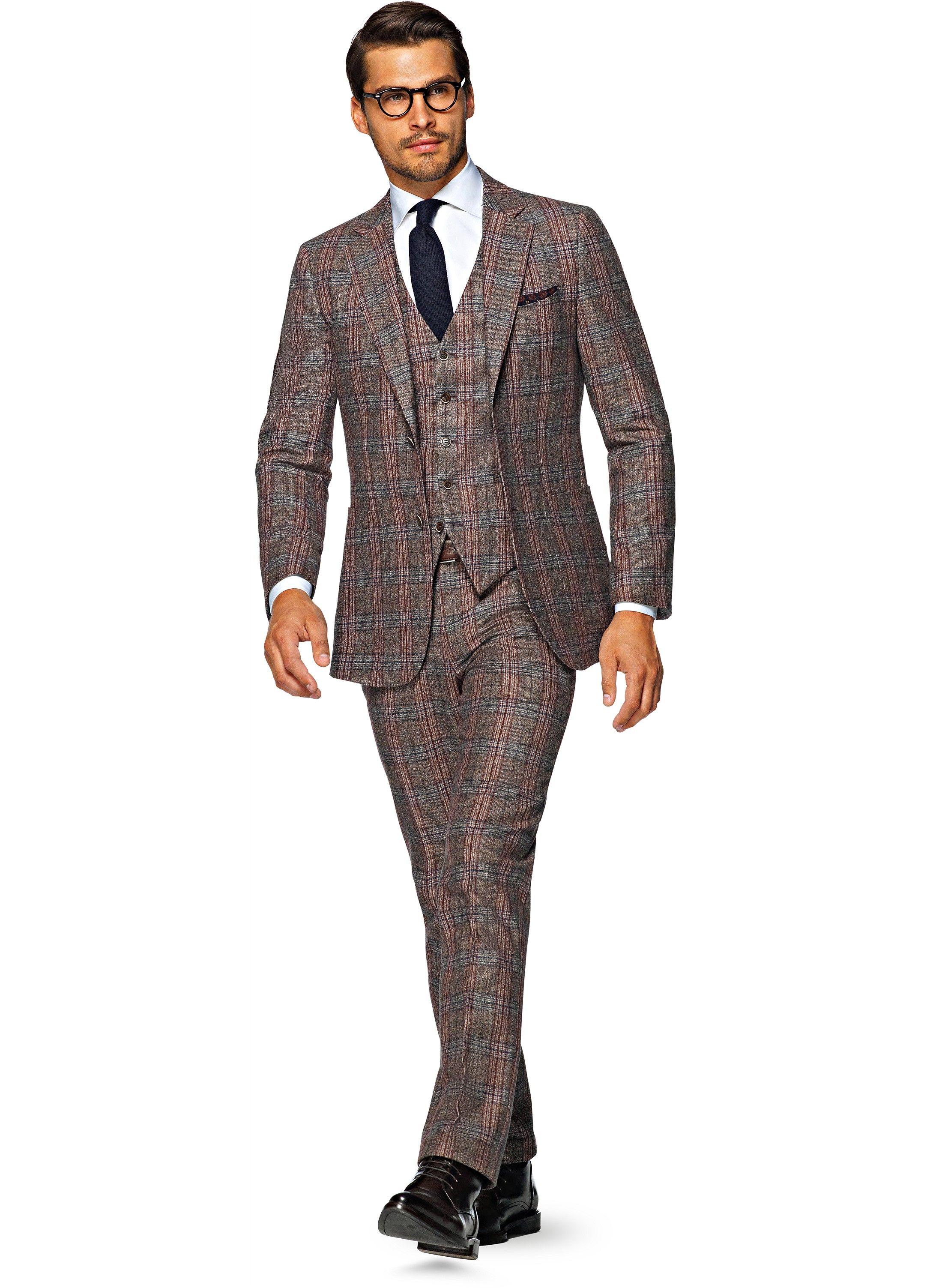 Suit Brown Check Havana P4703 Suitsupply Online Store
