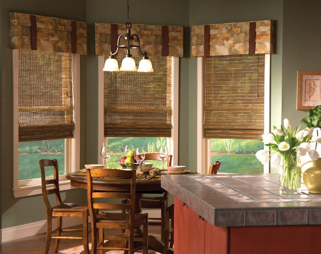Dining Room With Wooden Blinds And Valances : Different Types Of Window  Treatments For Your House
