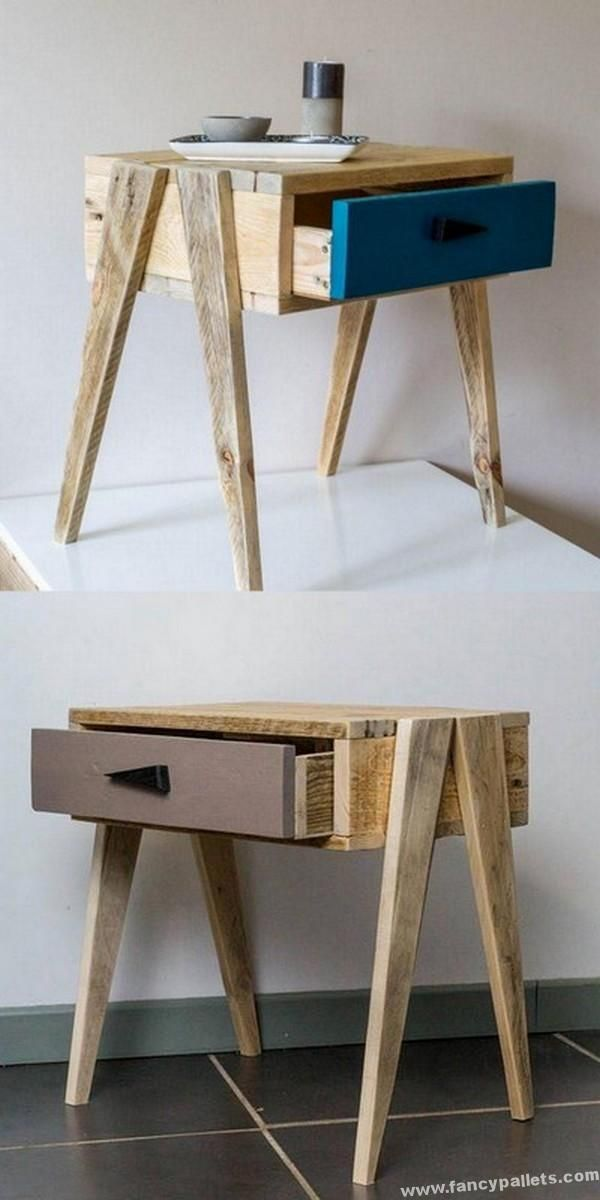 Very Beautiful Shipping Pallets Night Stand Ideas / Dekopub - #Beautiful #Dekopub #Ideas #Night #paletten #Pallets #Shipping #Stand #diypalletfurniture