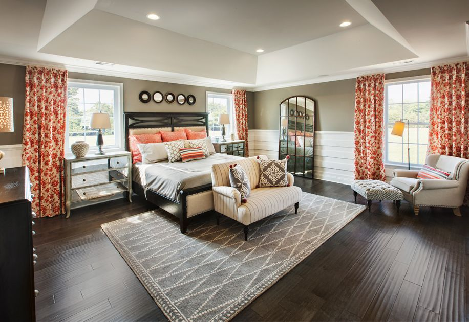 A nice cozy master bedroom. (Toll Brothers High Pointe at ...