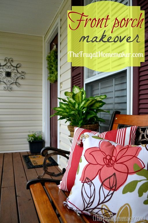 front porch makeover {sprucing up the outdoors for spring} - the