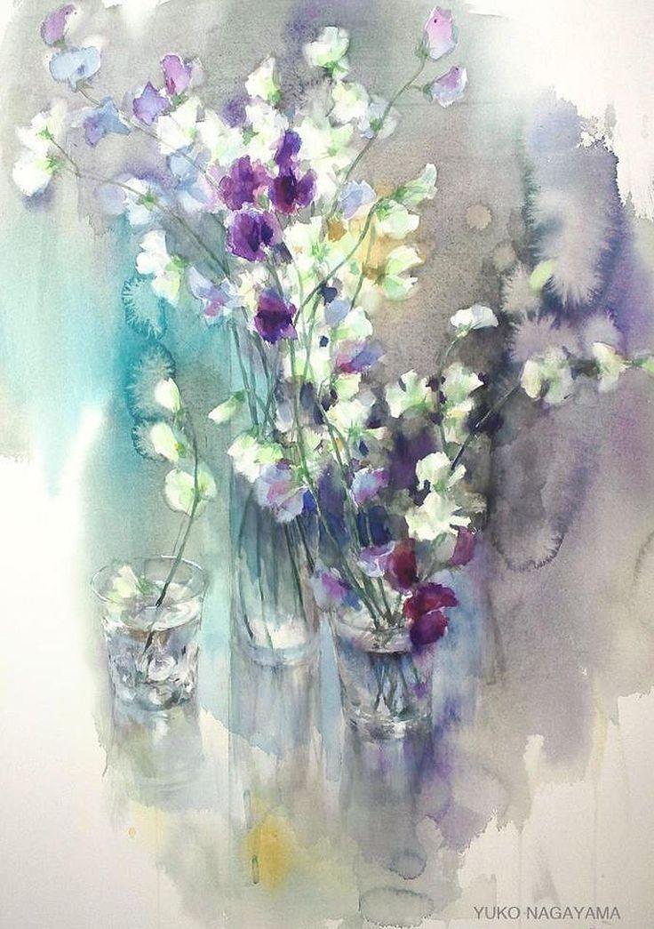 Pin By Marissa Hepner On Art Watercolor Flowers Flower Art Art
