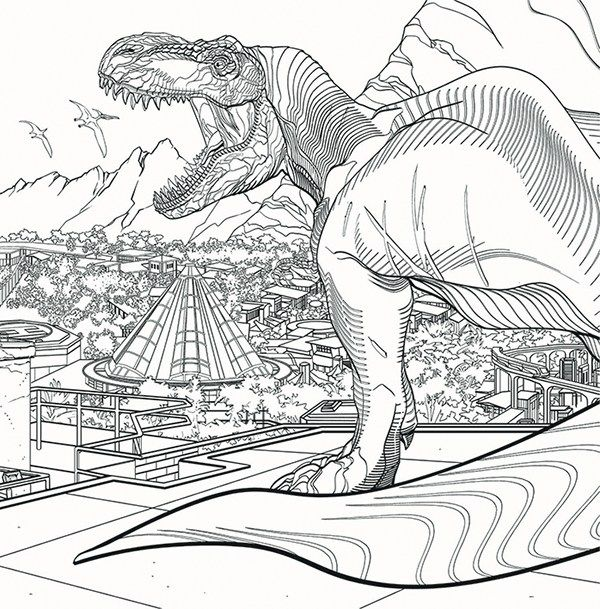 Jurassic World Coloring Book Pusat Hobi Dinosaur Coloring Pages Jurassic World Fallen Kingdom Coloring Pages