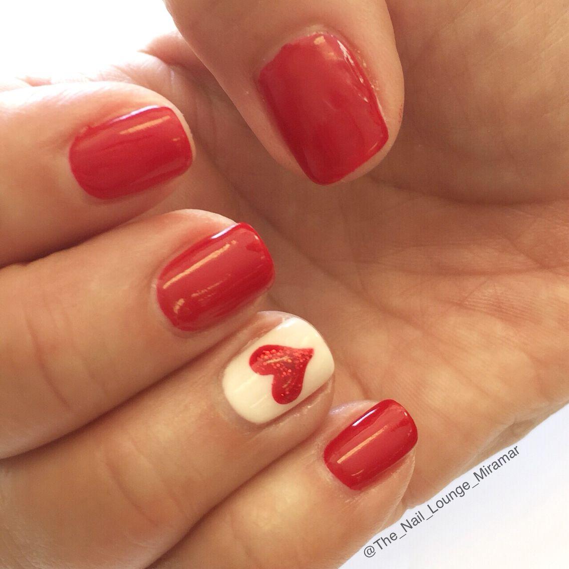 Valentines Day Heart Nail Art Design Nail Art Pinterest Nail Nail