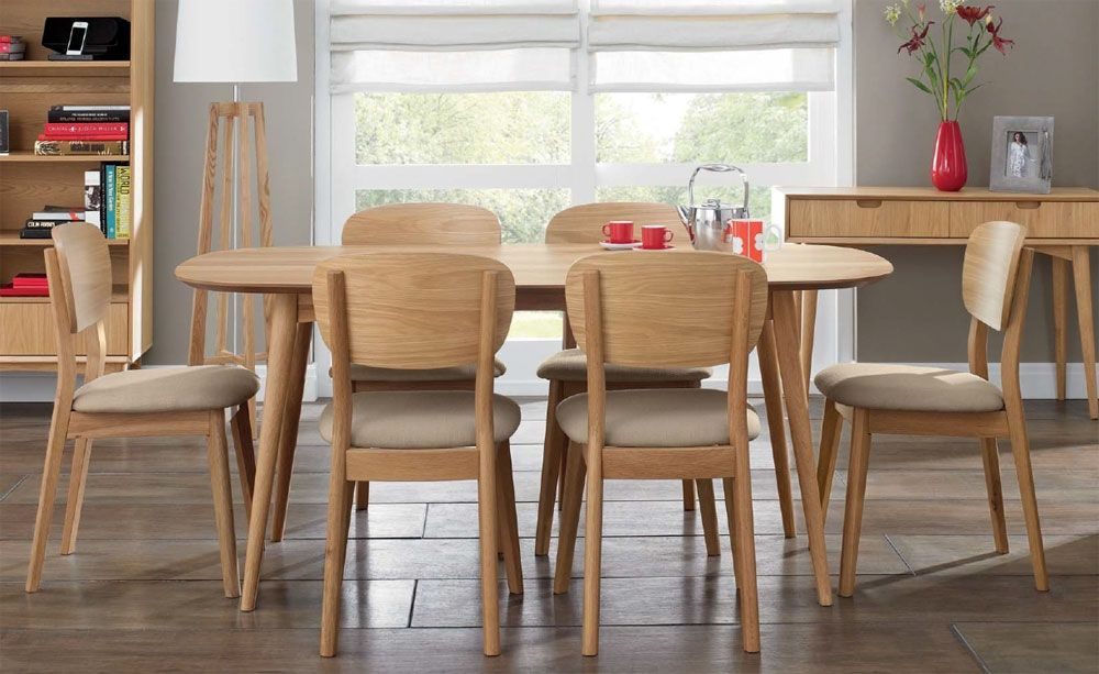 Oslo Oak 6 Seater Dining Table Choice Of 6 Dining Chairs 6 Seater Dining Table Dining Table Chairs Oak Extending Dining Table