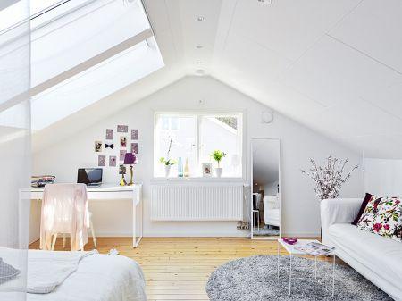 Ventanas en el tejado para iluminar áticos pequeños