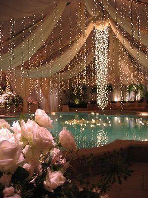 Pin By Amanda Hampsey On Just Float Wedding Lights Wedding Wedding Decorations