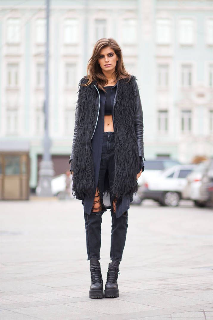 Moscow Street Style - Best Street Style Looks from Moscow Fashion Week - Harper's BAZAAR