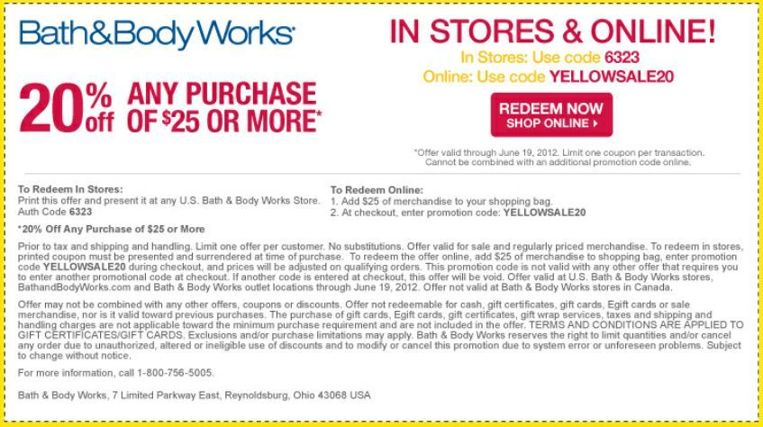 Store And Feb Body Works Bath Coupons 2014