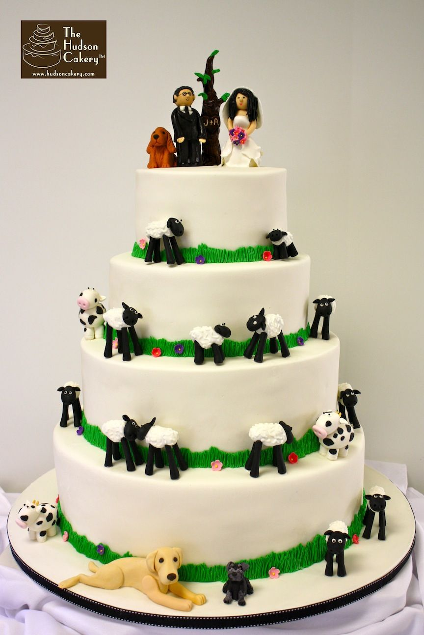 farm wedding cake hudsoncakery | Cake Ideas | Pinterest | Wedding ...