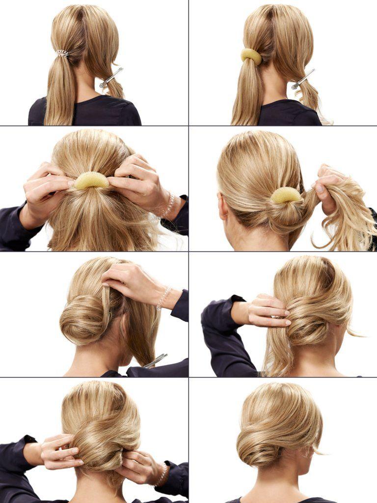 Retro chignon als festliche frisur diy makeup hair style