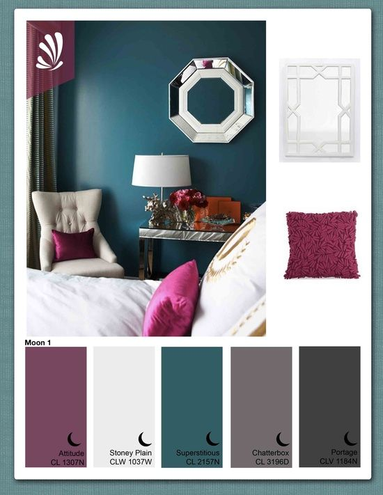 Purple, teal, and grey - lovely color combo.