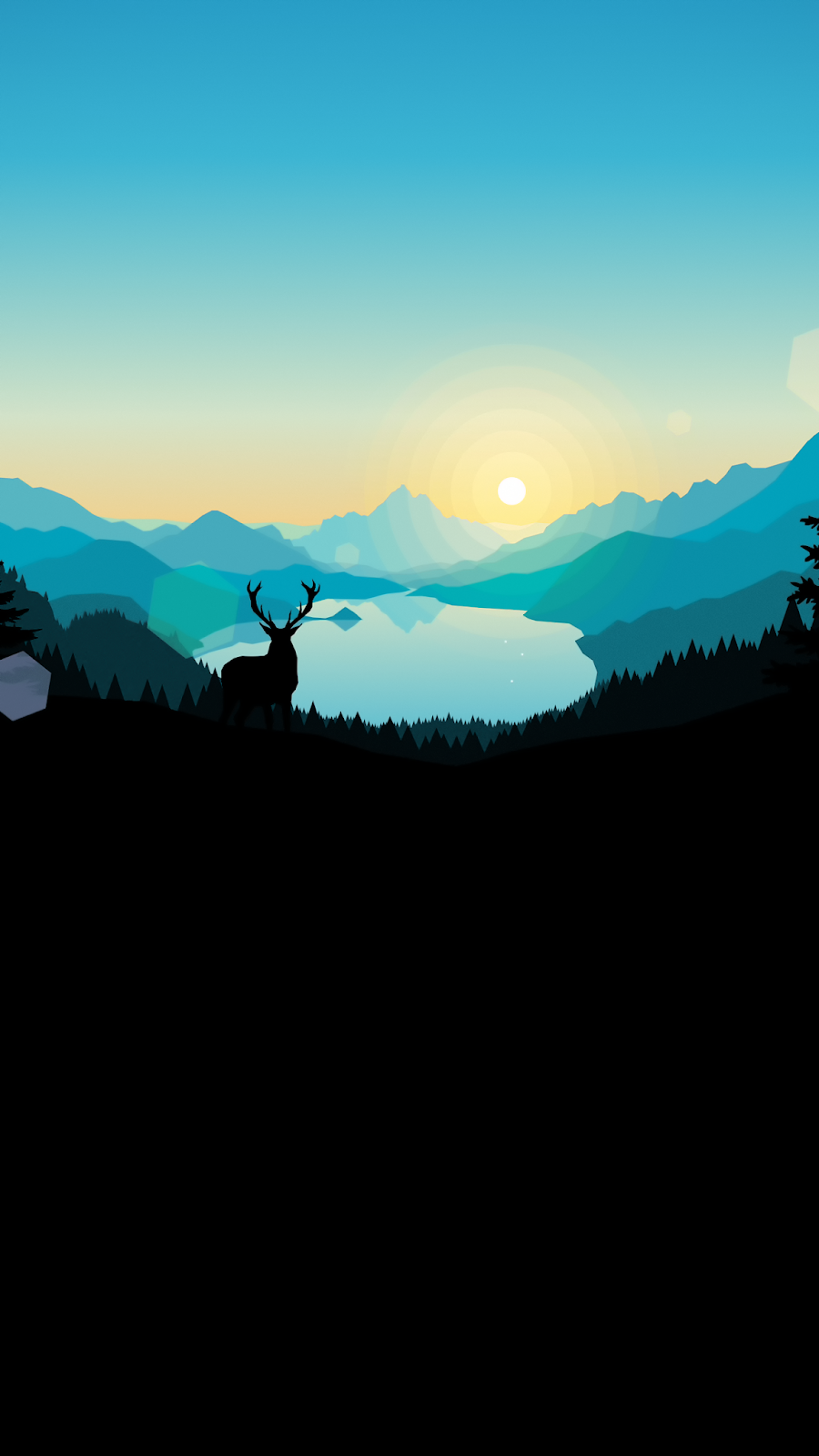 Firewatch Sunrise Lakeside Wallpaper Iphone Android Landscape Wallpaper Iphone Wallpaper Architecture Art Wallpaper