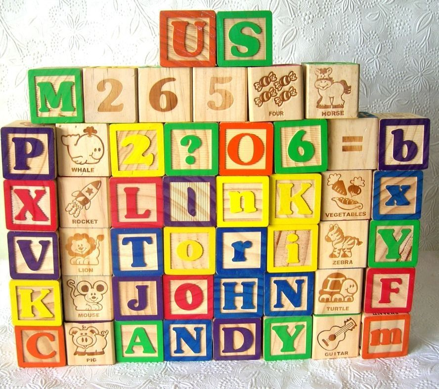 48 Alphabet Wood Blocks Crafting Or Toy Letters Pictures Numbers Unbranded Wood Block Crafts Block Craft Wood Blocks