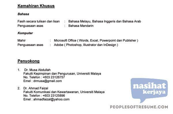 Contoh Resume PDF fiqru Pinterest