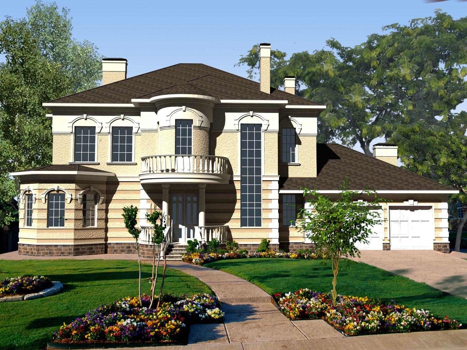 проекты двухэтажных домов загородных фото для