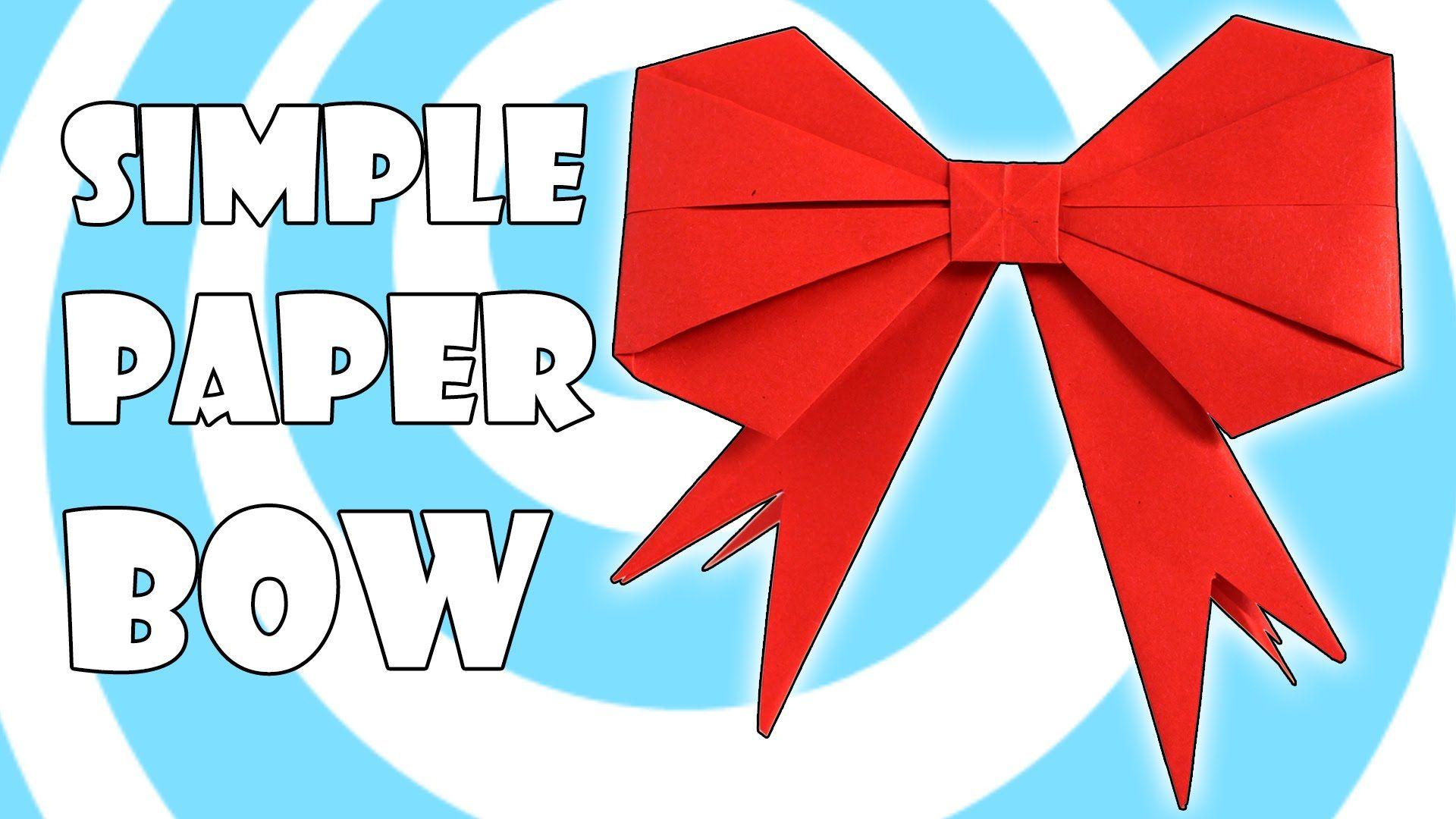 Diy simple origami gift bow ribbon instructions origami diy simple origami gift bow ribbon instructions jeuxipadfo Gallery