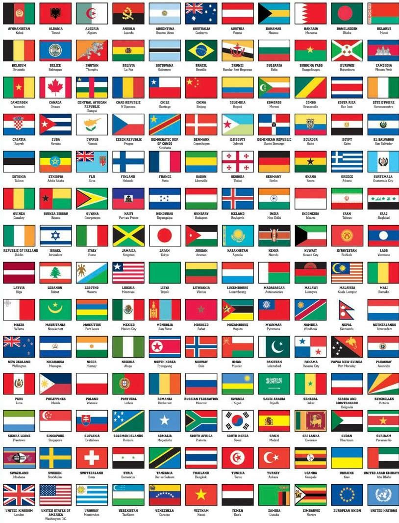 flags of the world with names capital | work ideas | Pinterest ...