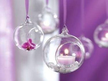 Kule Szklane Wiszace Na Kwiaty Lub Swiece Do Zawieszania Christmas Bulbs Christmas Ornaments Holiday Decor