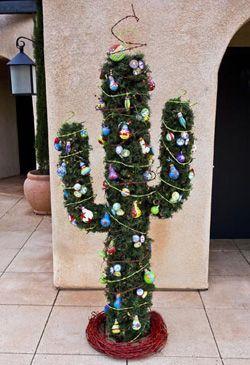 Saguaro Cactus Tree At Tlaquepaque In Sedona Arizona