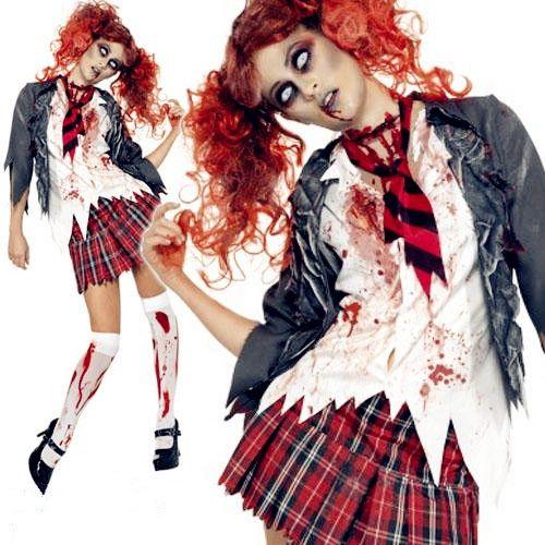 School Girl Halloween Zombie Costume Girl Zombie Costume Halloween Girl Zombie School Girl