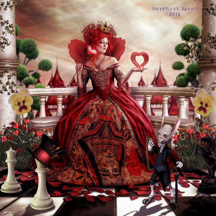 Queen Of Hearts By AmethystRaven Art On DeviantArt